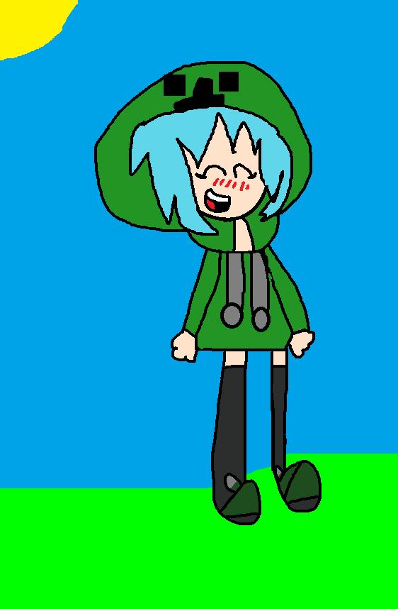 Anime minecraft creeper girl by fancysallyacorn on deviantart - Creeper anime girl ...