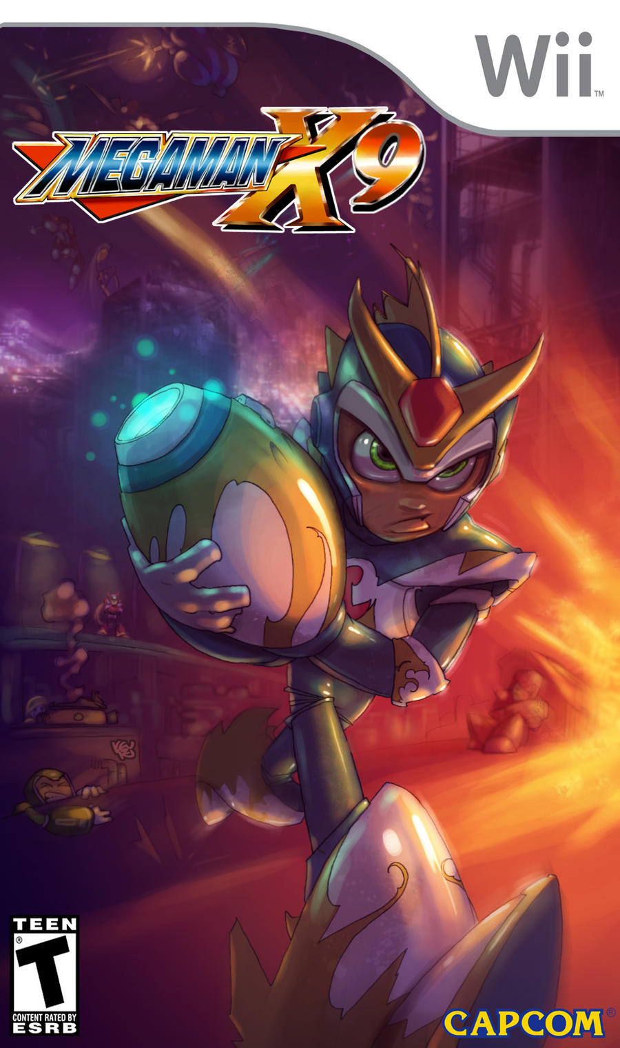 Mega Man X9 box art by TheGreyNinja