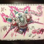Inktober day 19 - Astro-Samurai concept 5