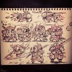Inktober day 15 - Astro-Samurai concept 3