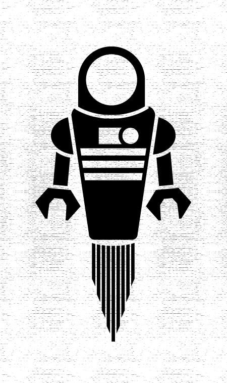 Robot Vinyl Sticker by markneu