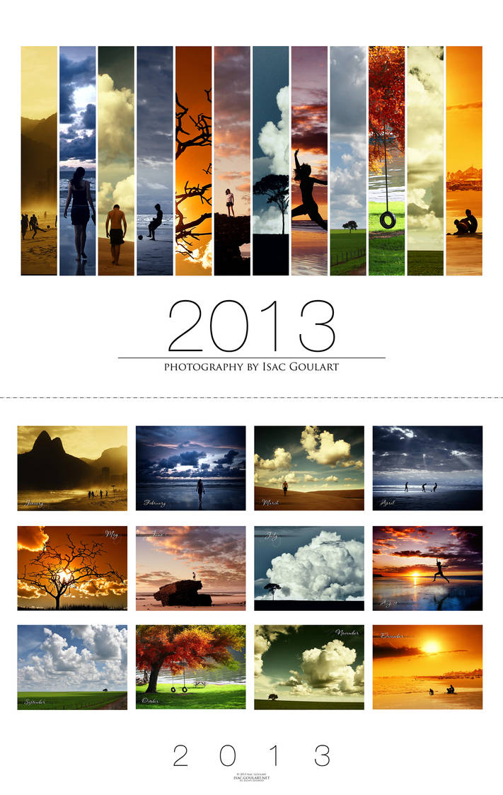 2013 Calendar - White by IsacGoulart