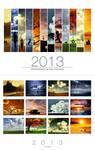 2013 Calendar - White