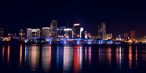 Miami at Night II by IsacGoulart