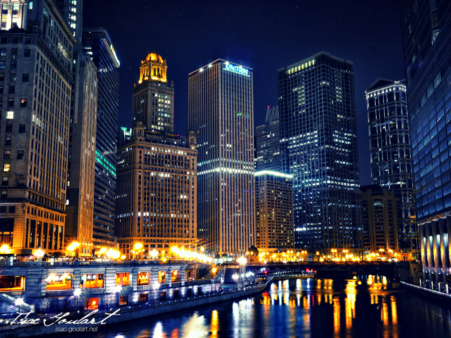 Chicago Nights by IsacGoulart on deviantART Christmas In Chicago 2013