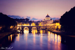Sunset at the Vatican by IsacGoulart