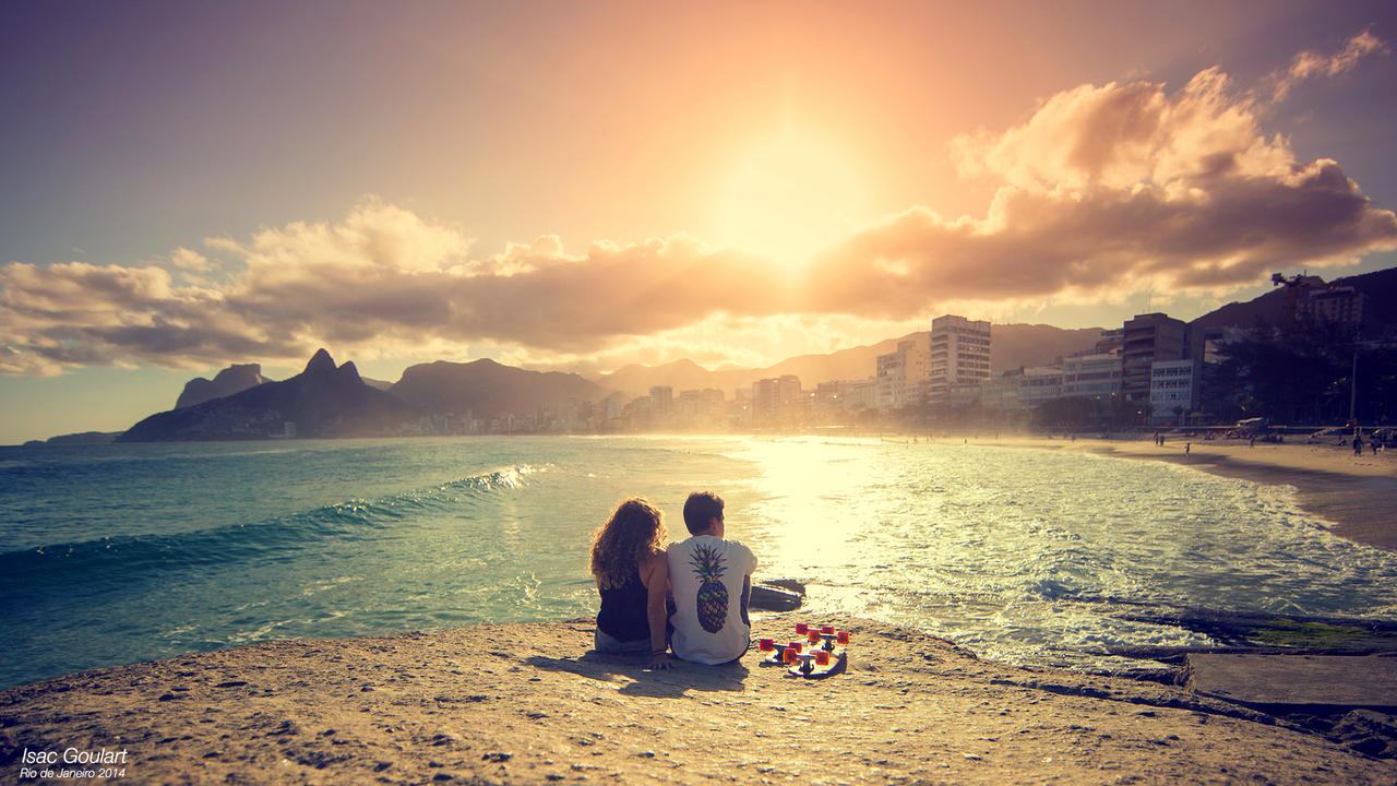 Lovers at Sunset in Rio by IsacGoulart