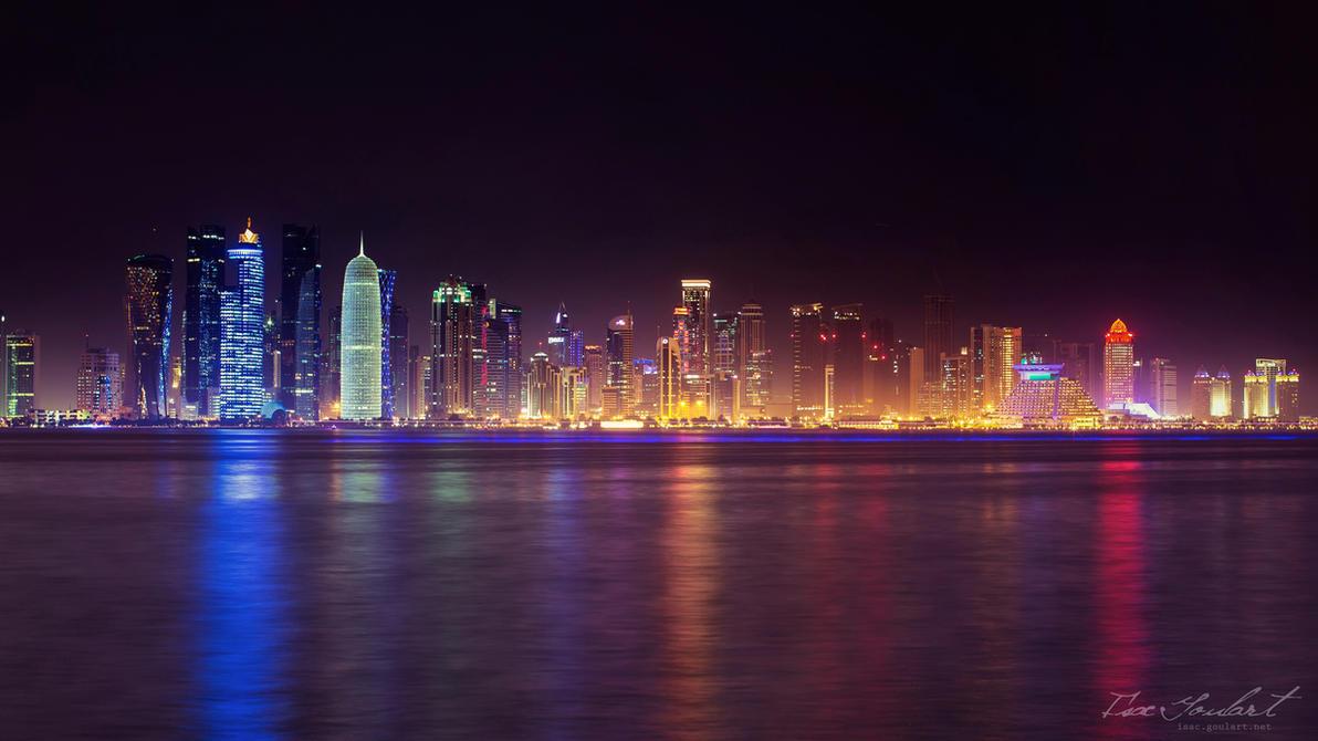 Doha, Qatar Skyline by IsacGoulart