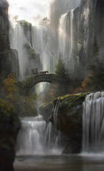 Waterfall by JordiGart