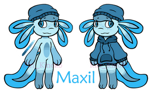 Maxil the axolotl [Oc ref]