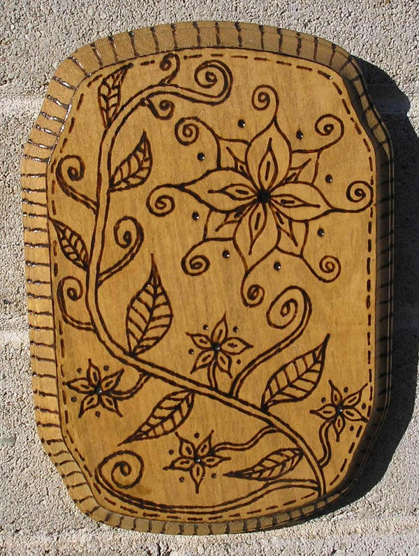 Simple flower woodburning by StonerKitty on DeviantArt