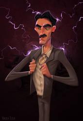 Nikola Tesla by NickNP