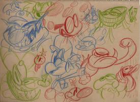 Mario Sketch Dump 3 by HoekKadoogen