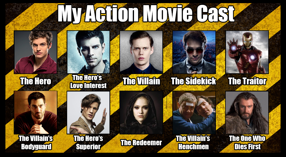 my action movie cast by zoomadness on deviantart
