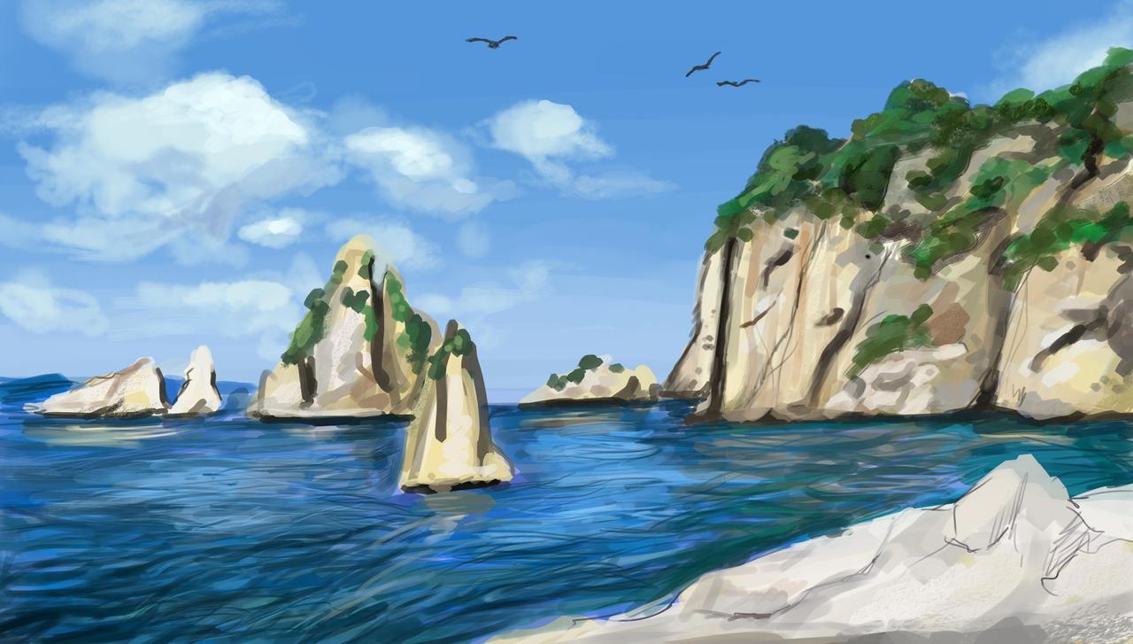 Ocean Cliff by Ankyloce