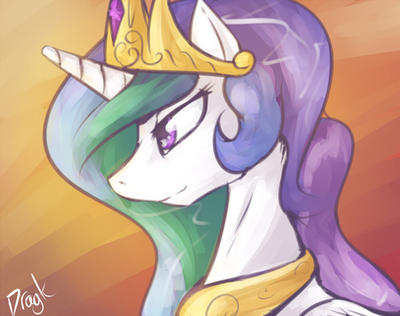 Princess Celestia Sun Goddess by Dragk