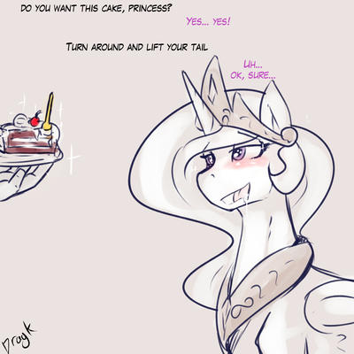 Do you want this cake princess? by Dragk