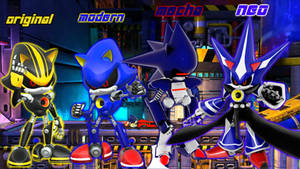 the evolution of Metal Sonic