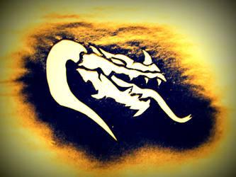 Dragon Stencil by OfficialPazora