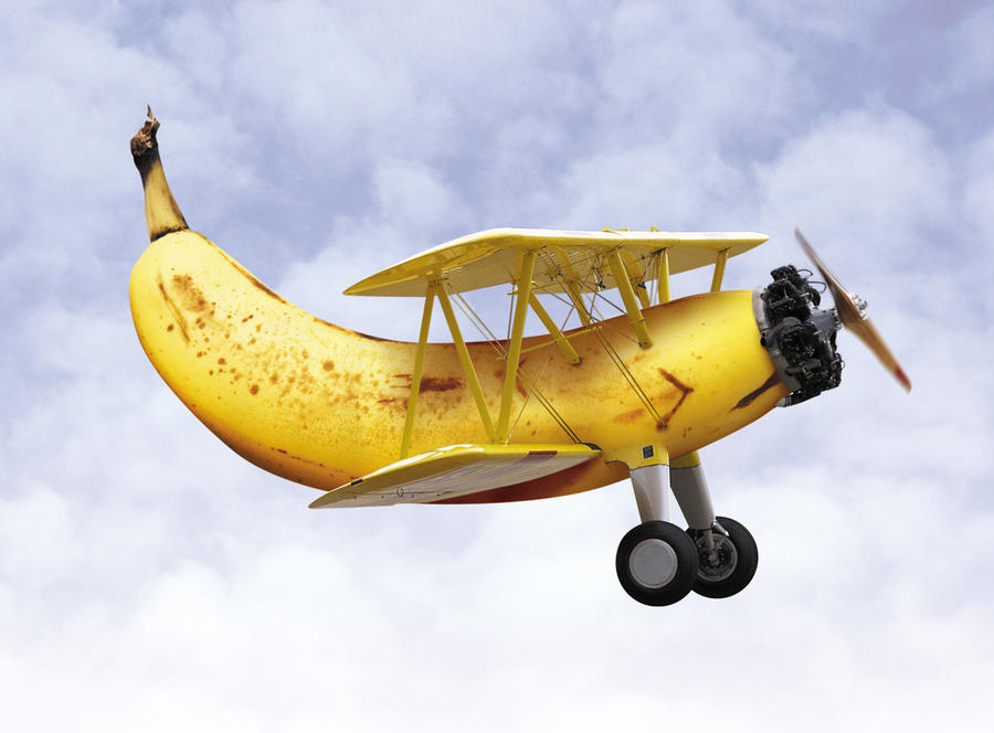banana plane by charliemonster