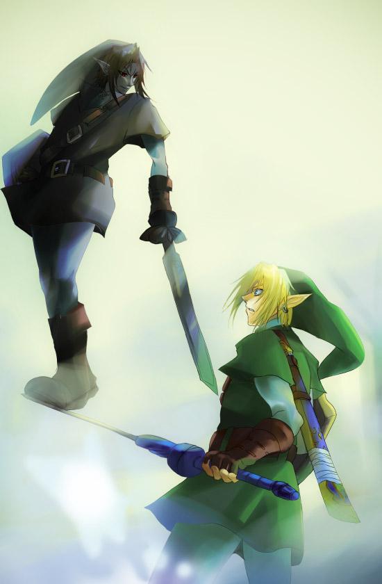 Legend Of Zelda Dark Link Vs Link OoT - Dark Link VS Lin...