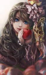 Girl with apple by Miyukiko