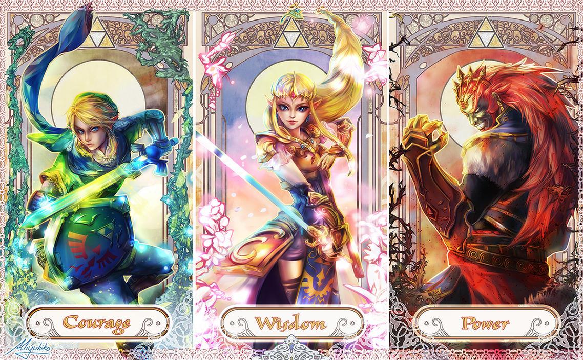 Legend of Zelda - Courage Wisdom Power by Miyukiko