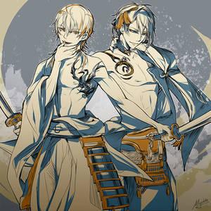 ToukenRanbu - blues and golds