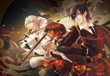 Touken Ranbu - the swords of Date clan by Miyukiko