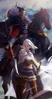Arslan Senki - Daryun and Arslan by Miyukiko