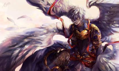 GBF - Lucifer and Sandalphon by Miyukiko