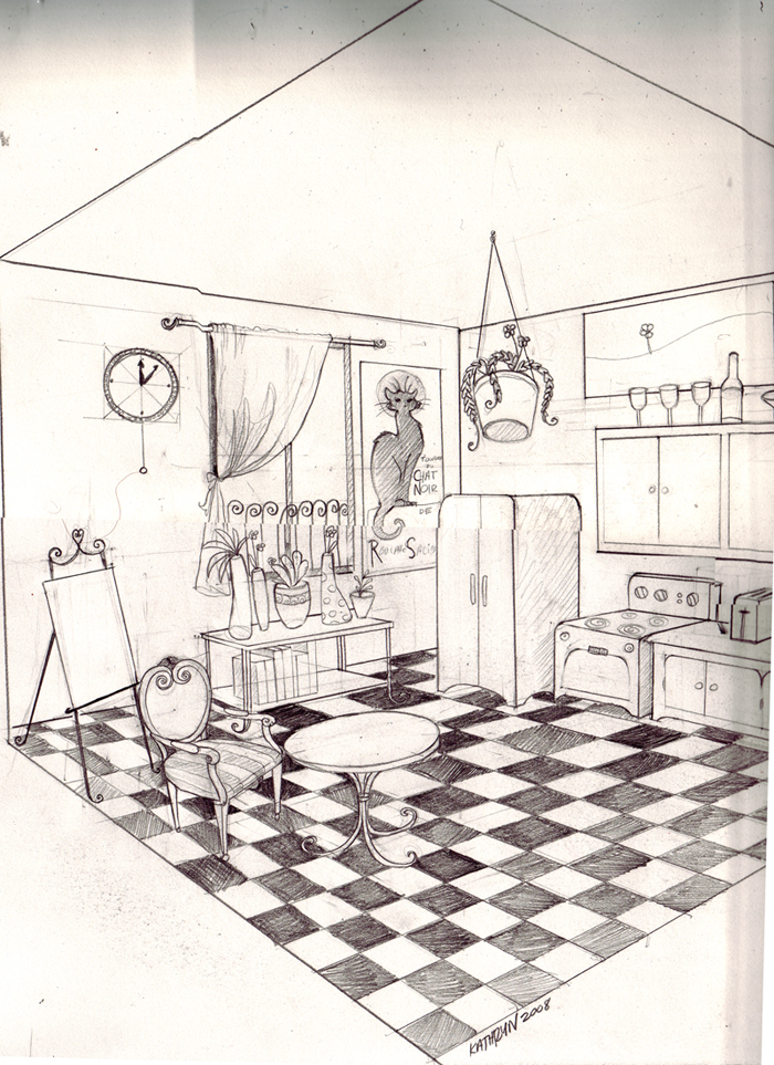 Find for bedroom 2 point perspective at for Bedroom 2 point perspective