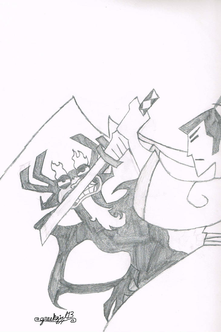 Samurai Jack: Jack vs Aku by greekgirl13