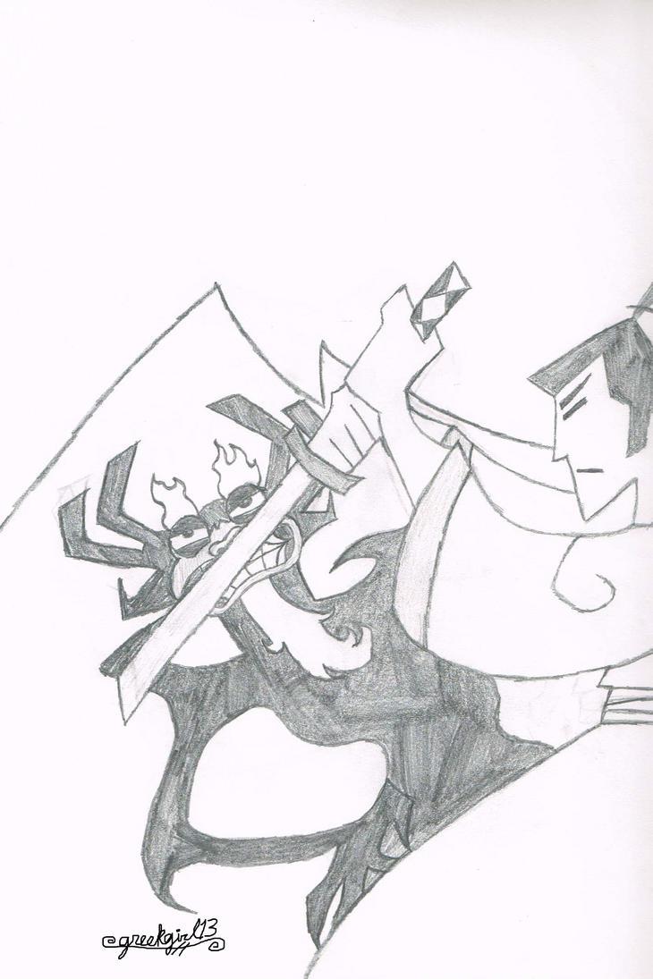 Samurai Jack: Jack vs Aku by greekgirl13