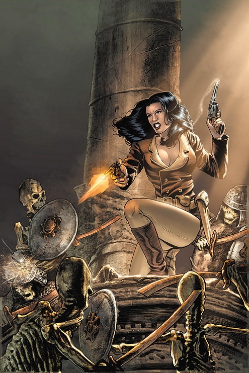 Athena Voltaire color cover by stevebryant