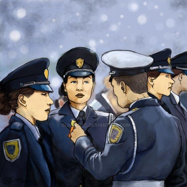 Female Cadet by oliveroso