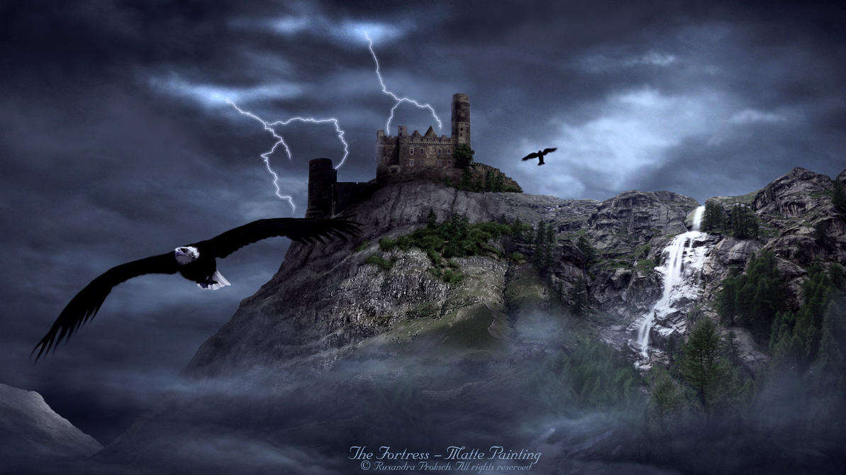 The Fortress - Matte Painting by ruxique