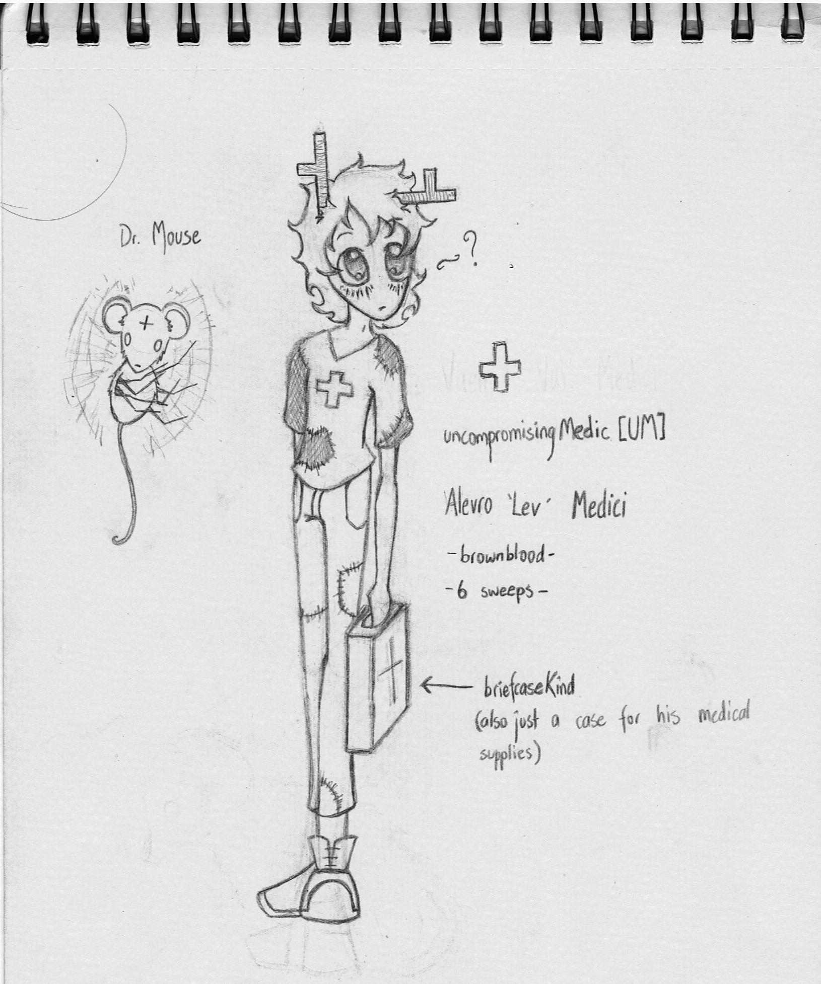 Sketchbook - Alevro Medici (uncompromisingMedic) by TornadoWraith88
