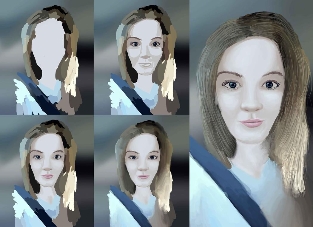 Portrait progress by kyl3r