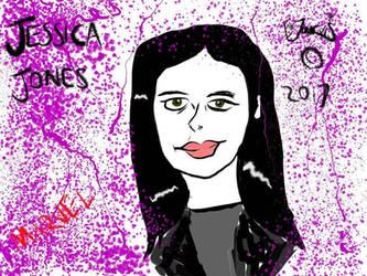 Jessica Jones fan art doodle  by IzzyJarvisRaven