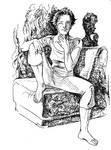 Girl on Armchair 2