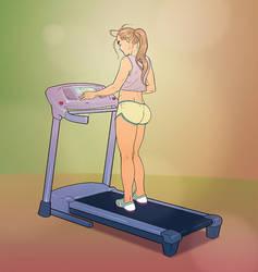 Patricia Carla on treadmill by andreleal