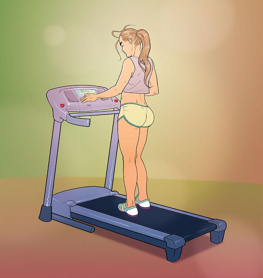 Patricia Carla on treadmill