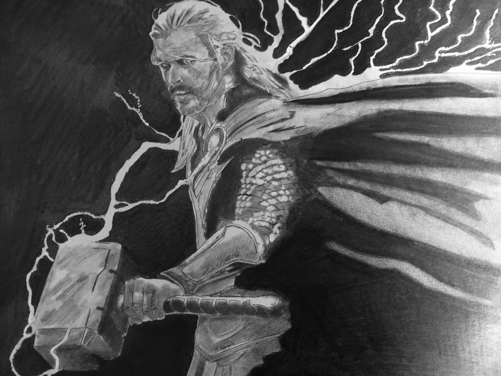 Thor yielding the power by Mikeadams78