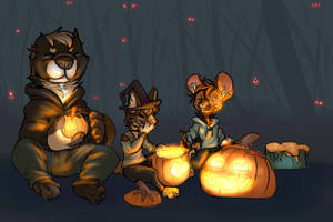 Spooky NIghts and hallowed lights by Whitefeathur