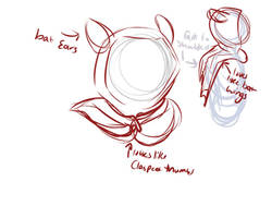 Concept Sketch - Winged/hooded Drape~! by Whitefeathur