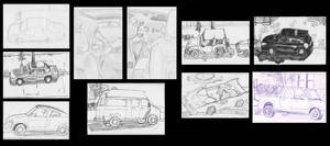 May Sketchbook - Cars