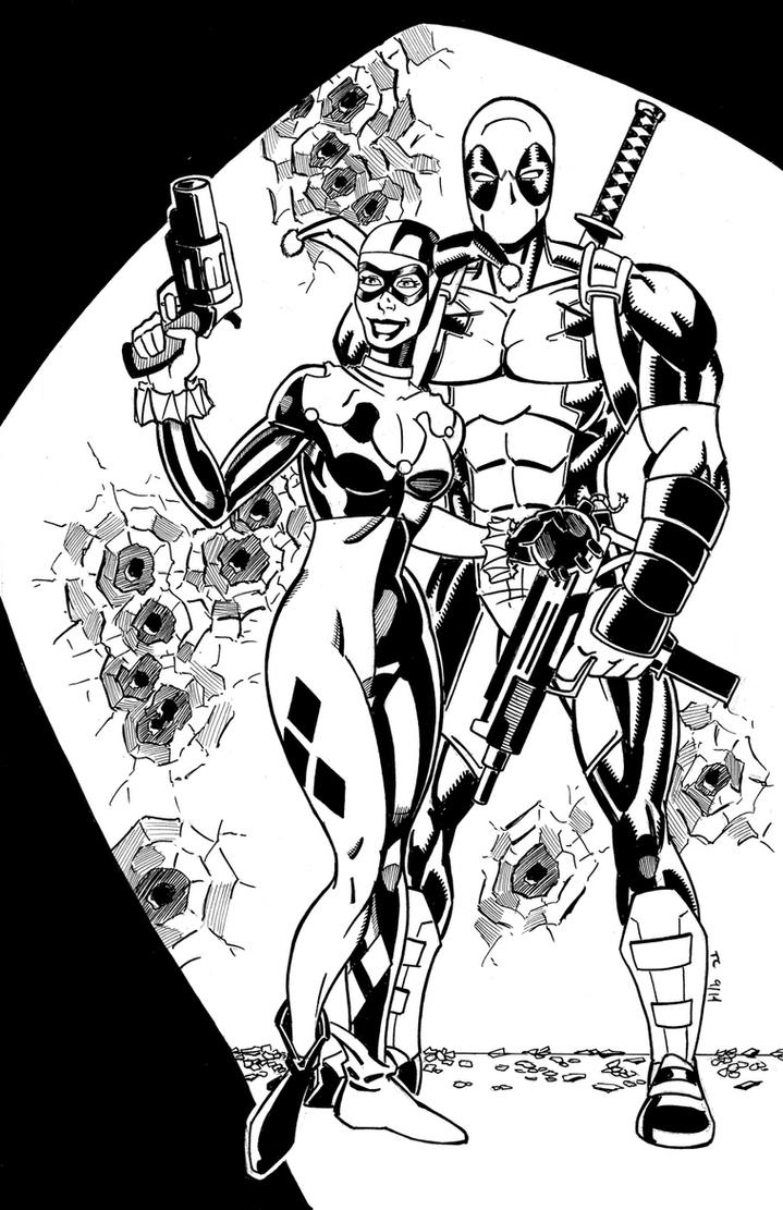 Harley Quinn and Deadpool by NinjaSpidey
