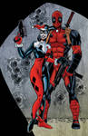 Harley Quinn and Deadpool colored