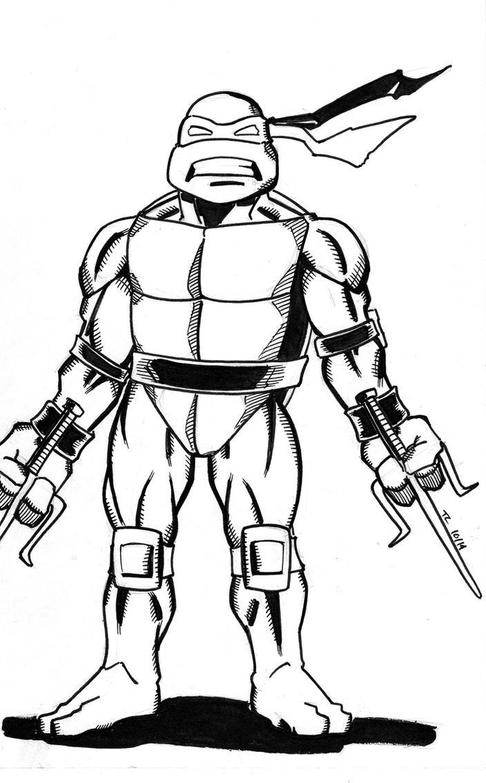 Raphael Sketch by NinjaSpidey